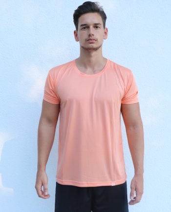 Logo-Shirt-Orange-Trocken