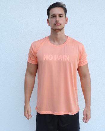 NoPainNoGain-Shirt-Orange-Trocken-Vorne