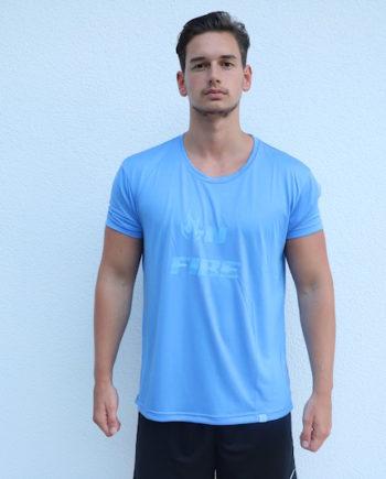 OnFire-Shirt-Blau-Trocken-Vorne